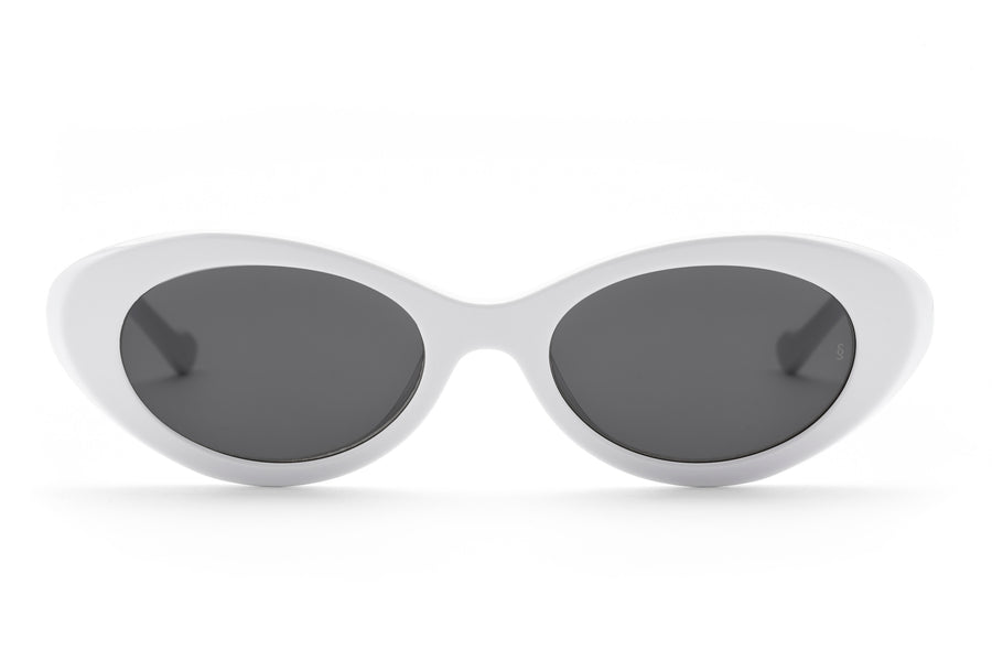 Georgia oval sunglasses in white