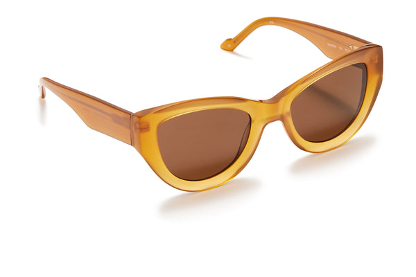 Sunday Somewhere Harper Amber Women's Oversized Acetate Sunglasses
