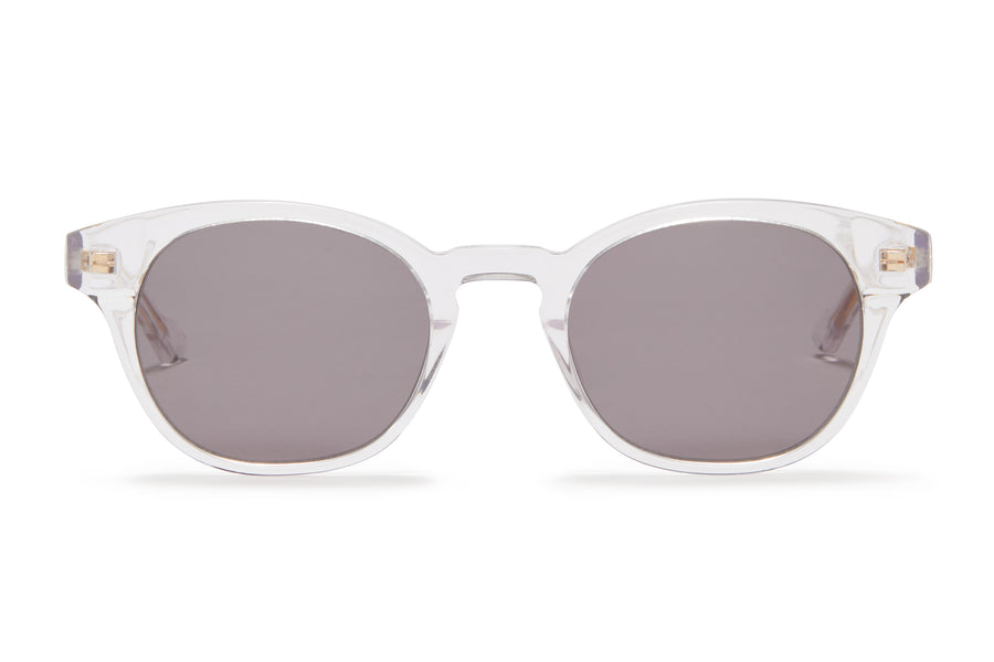 Sunday Somewhere Ario Crystal Unisex Round Acetate Sunglasses