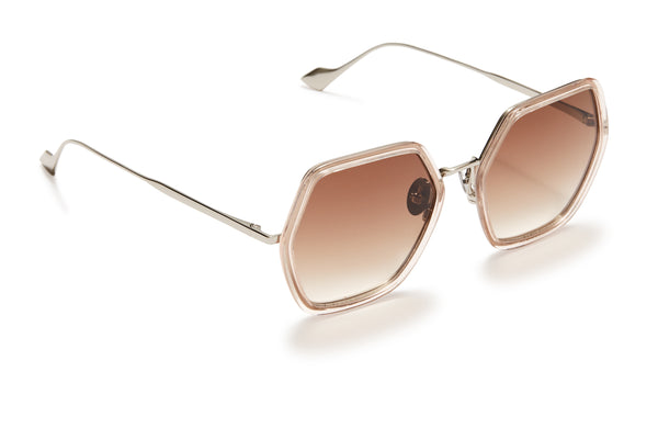 Sunday Somewhere Elizabeth Pink Woman's Square Sunglasses