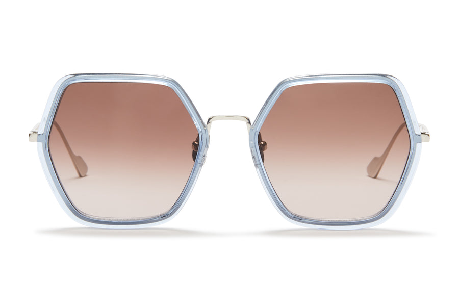 Sunday Somewhere Elizabeth Blue Woman's Square Sunglasses