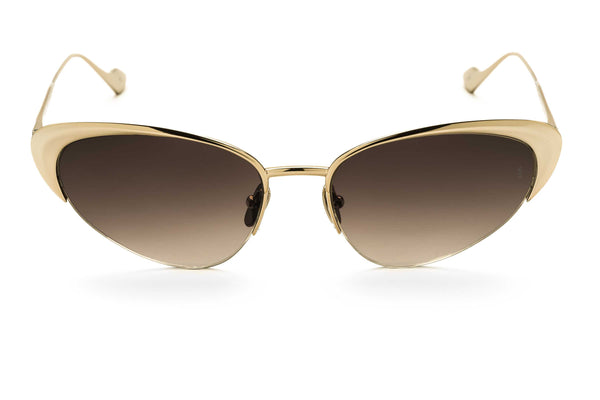 Yuki cat-eyed sunglasses in gold