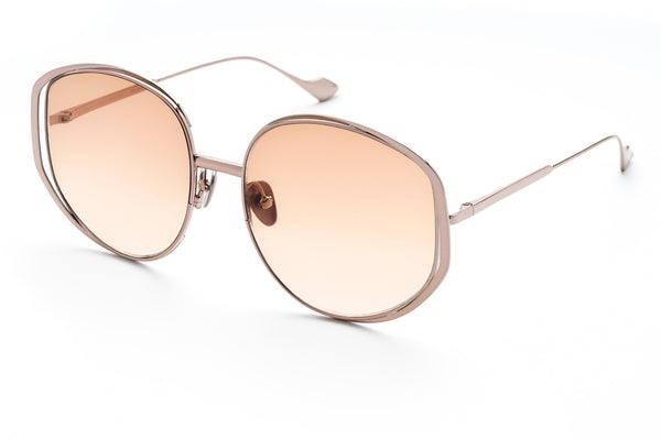 Marjorie oversized sunglasses in pink gold