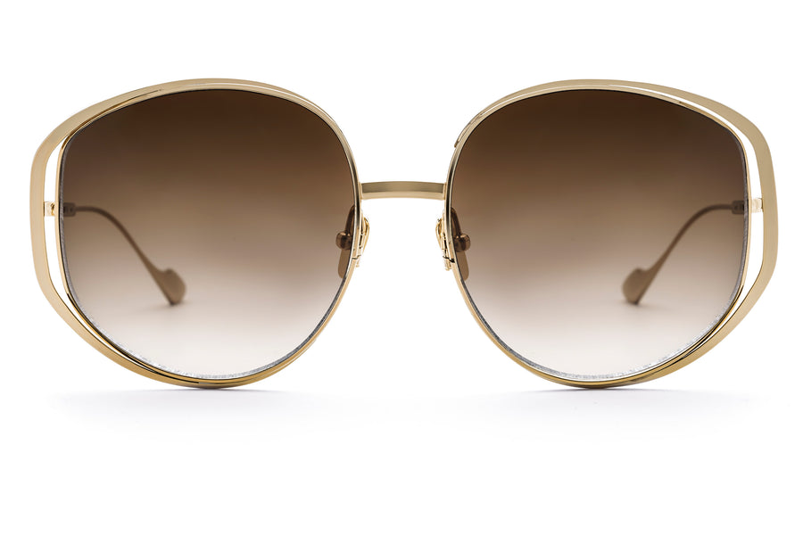 Marjorie oversized sunglasses in gold