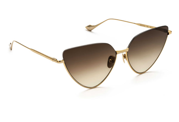 Jacqueline cat-eyed sunglasses in gold
