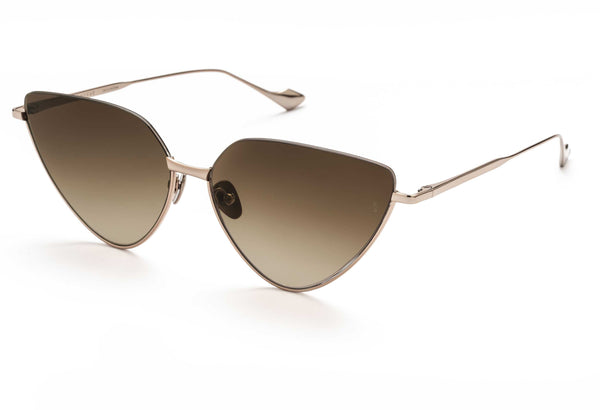 Jacqueline cat-eyed sunglasses in rose gold