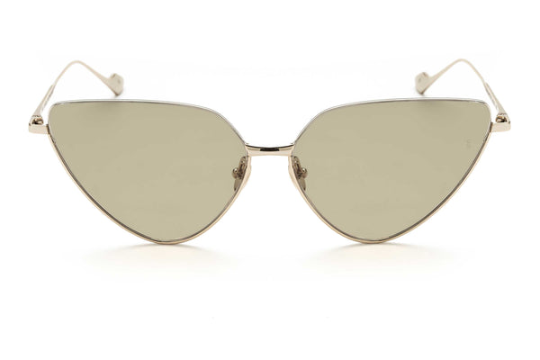 Jacqueline cat-eyed sunglasses in white gold