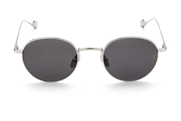 Willie round sunglasses in silver