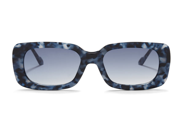 Sunday Somewhere Ursula in Blue Tort Women's Acetate Sunglasses