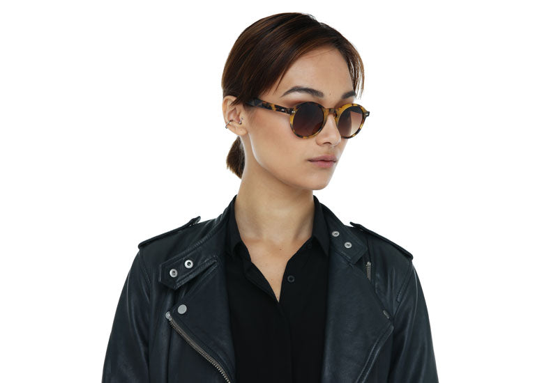Alila round sunglasses in crystal