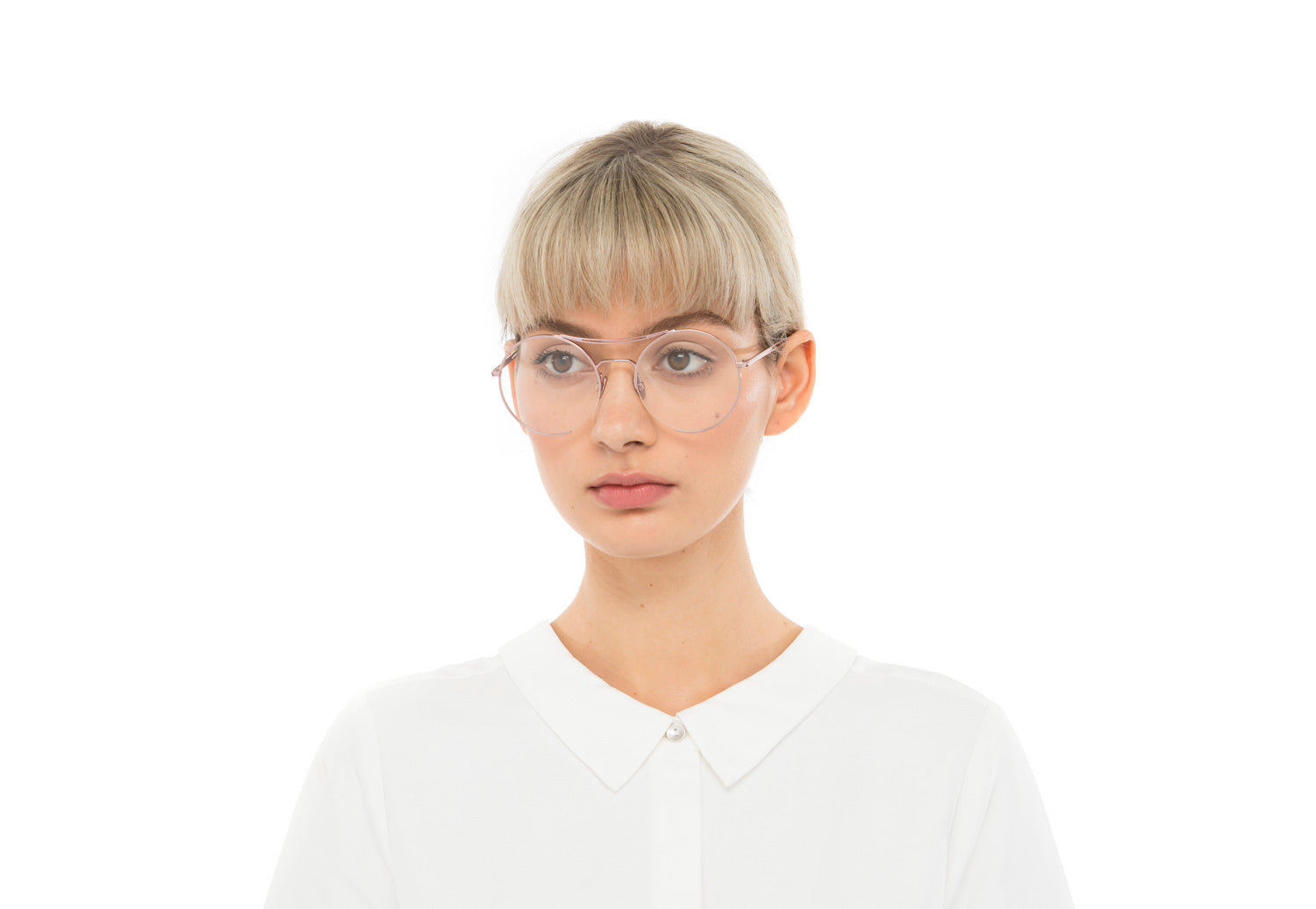 Goldie in Silver Optical Optical Frames