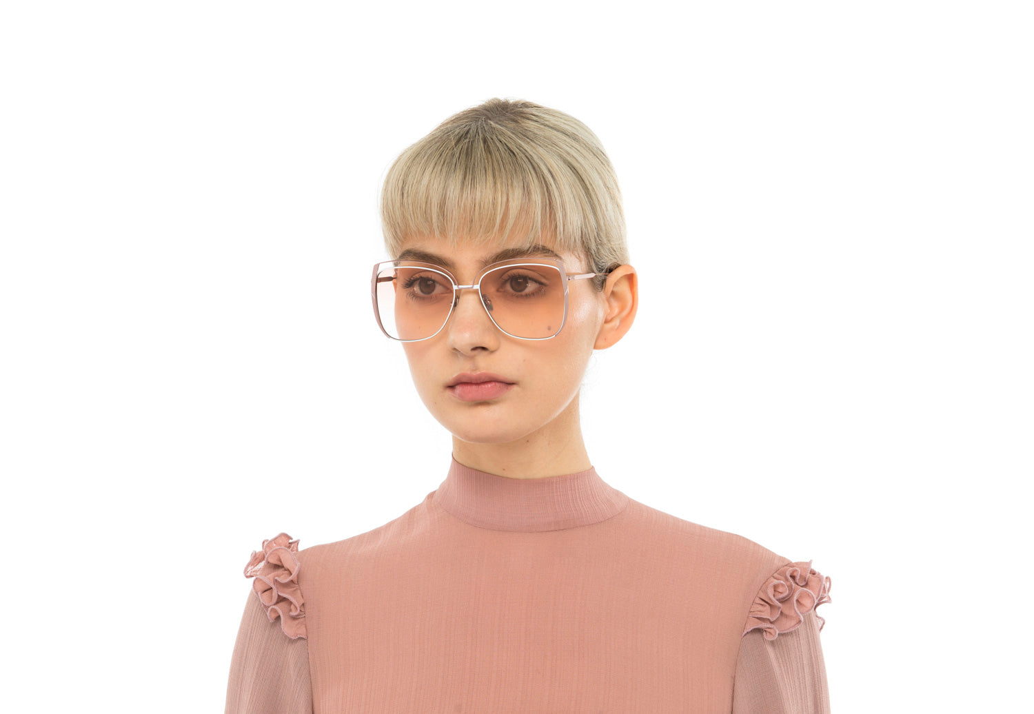Poppy oversized sunglasses in silver