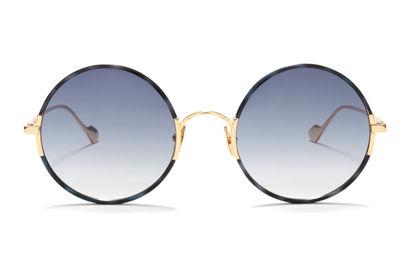 Sunday Somewhere Yetti Duo in Blue Tort Unisex Round Sunglasses