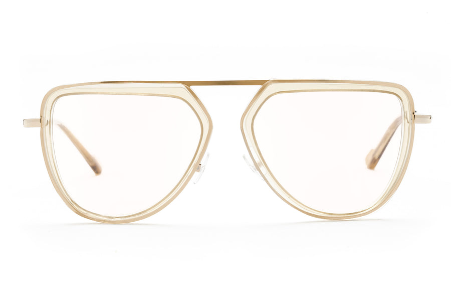 Zane oversized optical in champagne