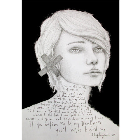 If you define me - Graphite pencil and acrylic paint on heavy paper and reclaimed wood