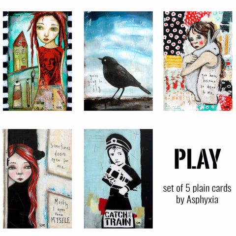 Play - pack of 5 plain gift cards