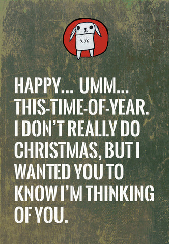 unChristmas cards: plain holiday cards for people who don't do Christmas