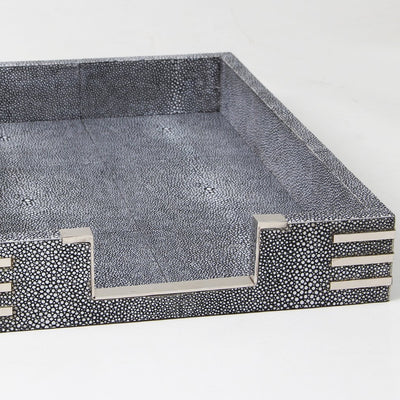 Art Deco tray, desk tray, paper tray, shagreen Art Deco desk tray