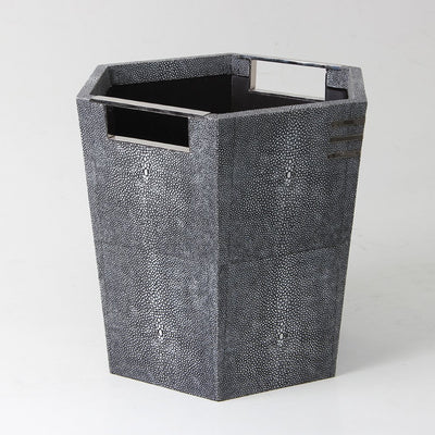 Shagreen_waste_paper_bin. Art_deco