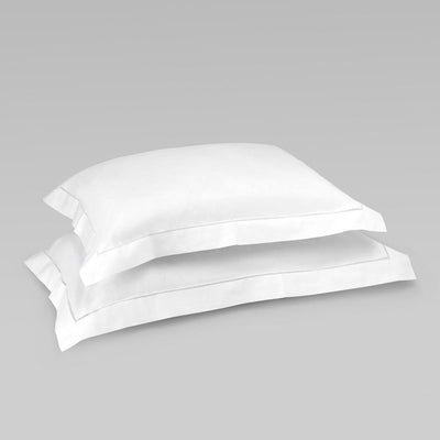Set_of_Pillowcases. UK_Sizes. Hemstitch_oxford_edge_pillowcase_super_king