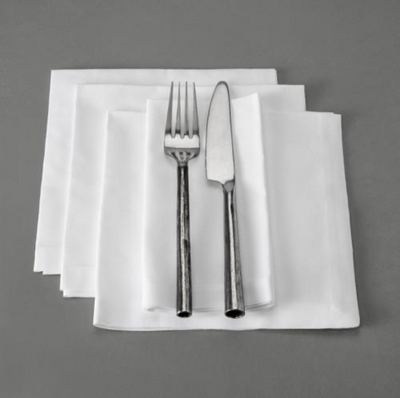 easy_care_white_napkins. standard_cotton_napkins.