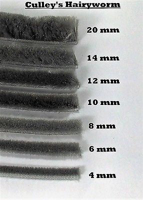 1 The Hairy Worm Brush Pile Wool Pile Self Adhesive Draught Seal Sizes 4mm - 20 mm