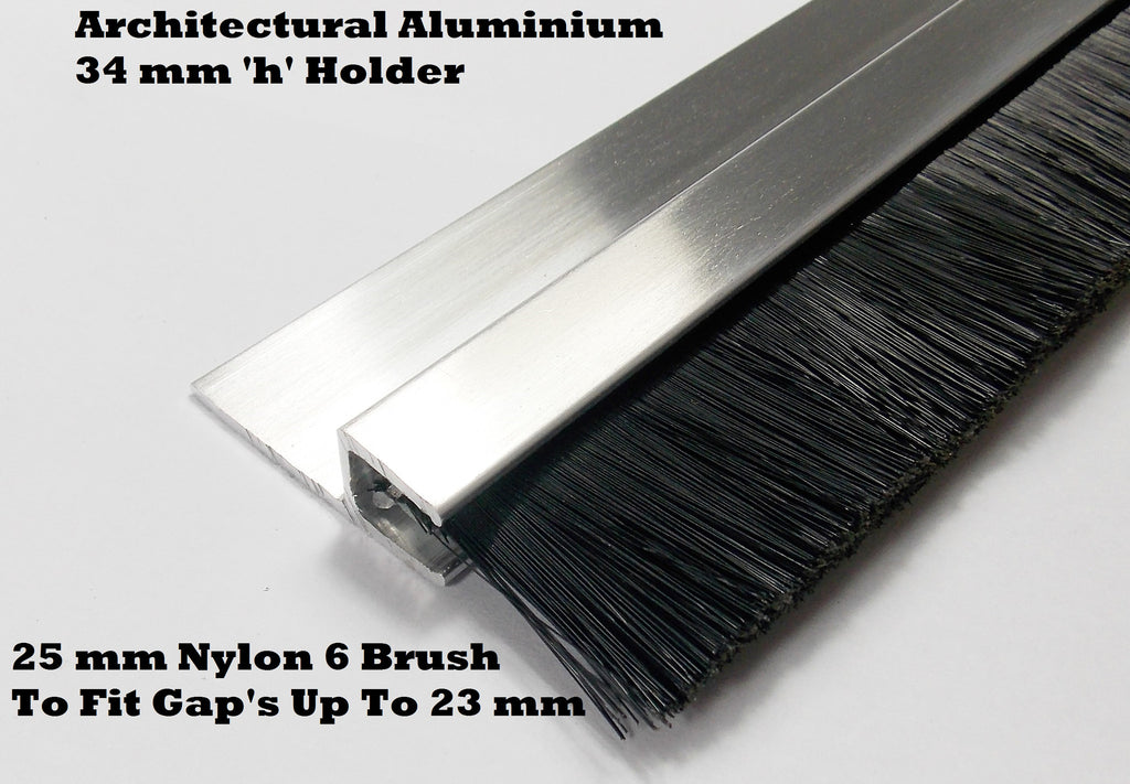 QUALITY NYLON BRUSH STRIP 25 MM SUITABLE FOR INDUSTRIAL DOORS & GARAGE DOOR
