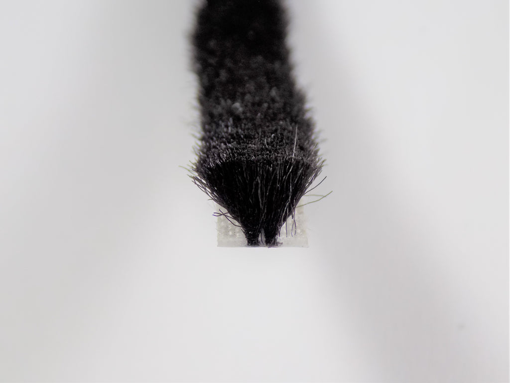 The Hairy Worm Black Slide-In Brush Pile 6.7 mm Base Various Heights
