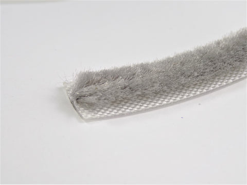 The Hairy Worm Grey Self Adhesive Brush Pile 12.7 mm Base  X 6.5 mm Height