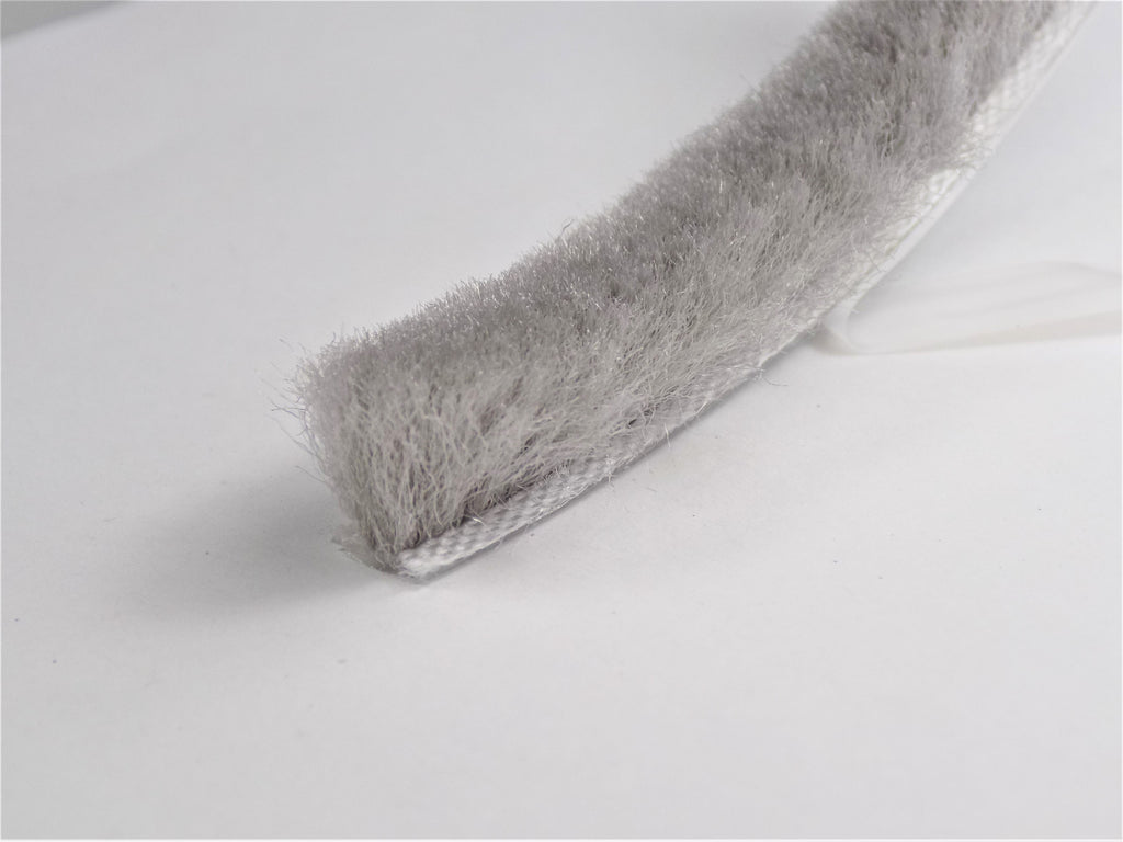 The Hairy Worm Grey Self Adhesive Brush Pile 6.9 mm Base X 11 mm Height