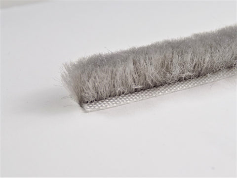 The Hairy Worm Grey Self Adhesive Brush Pile 8.6 mm Base X 10 mm Height