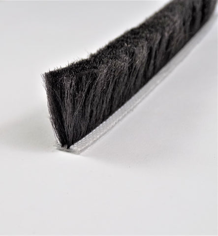 The Hairy Worm Black Self Adhesive Brush Pile 6.9 mm Base X 17 mm Height