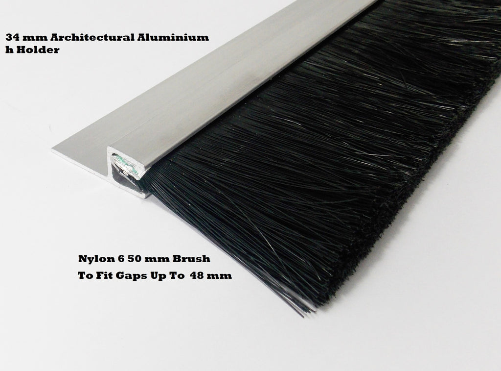 QUALITY NYLON BRUSH STRIP 50 MM SUITABLE FOR INDUSTRIAL DOORS & GARAGE DOOR