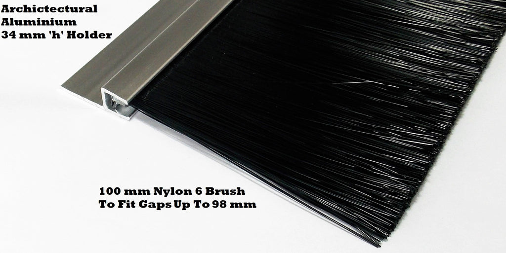 QUALITY NYLON BRUSH STRIP 100 MM SUITABLE FOR INDUSTRIAL DOORS & GARAGE DOOR