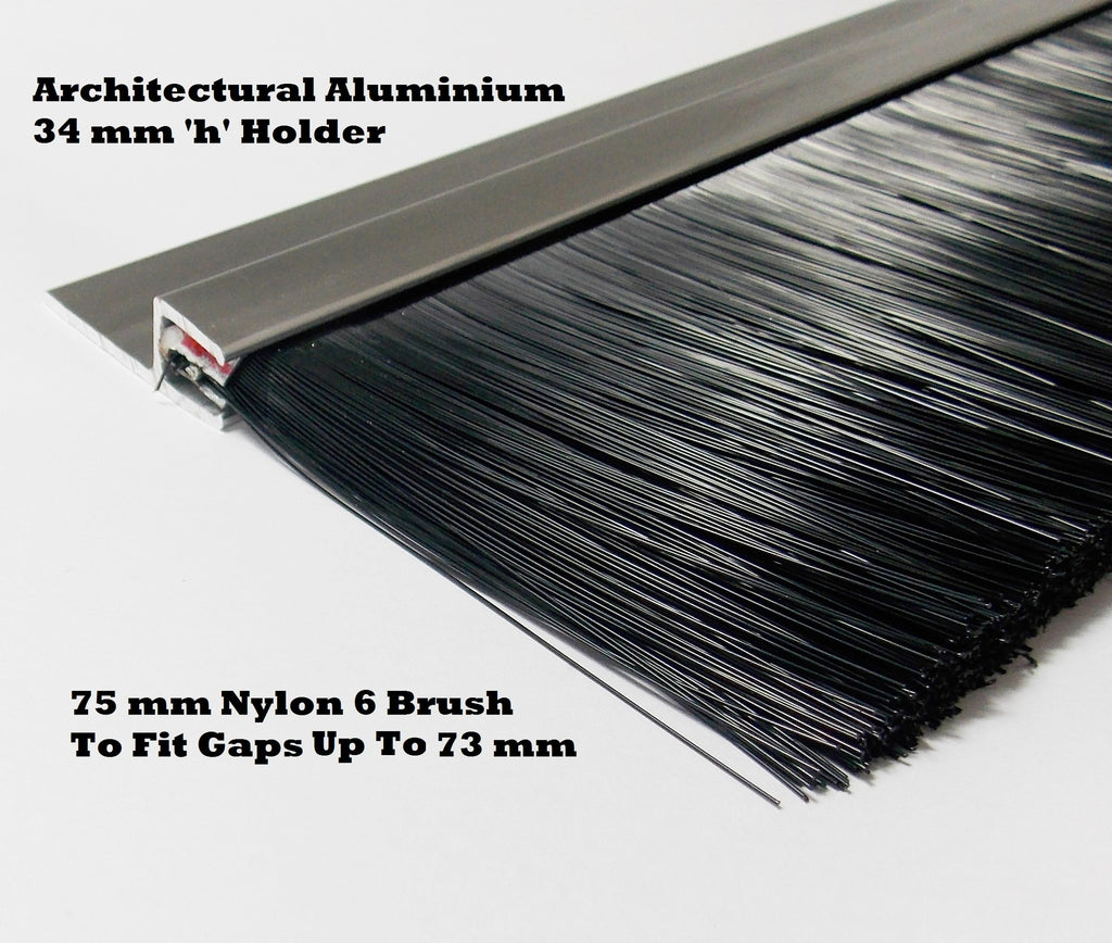QUALITY NYLON BRUSH STRIP 75 MM SUITABLE FOR INDUSTRIAL DOORS & GARAGE DOOR ,ALSO ALL PIECES FOR LETTER BOX