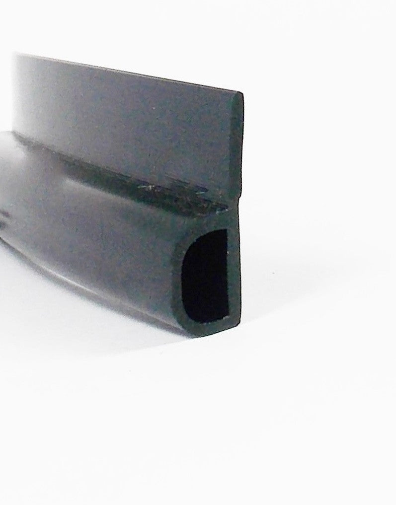 Nitrile rubber , 'P' Strip [more d seal with tail 25 mm high x 10 mm deep
