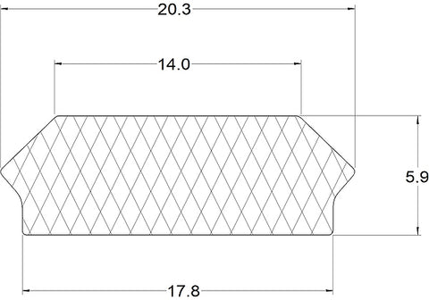 Silicone Rectangle Infill Strip - 25 Metre