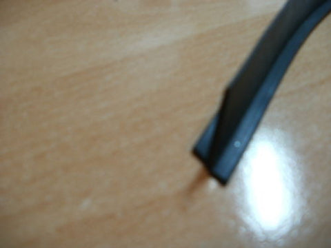 Per mt, T section 10mm X 5mm wide black silicone extrusion EPDM rubber seal.