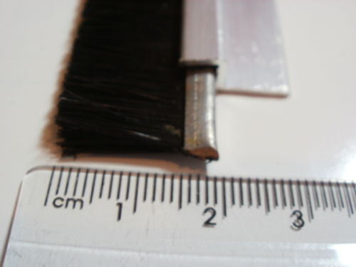 Culley's door draught excluder brush strip kit in 3 pieces, to 2670mm length total. Trim length 15mm.