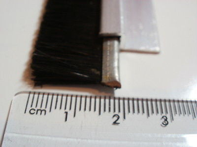 GOOD door draught excluder sealing strip kit 15 mm long brush 1 @ 1100 mm