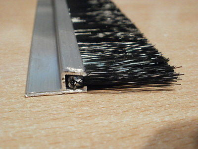 Brush Strip sweep style Draught Excluder With 35 mm Brush  1.00 metre long (in multipules for garage doors