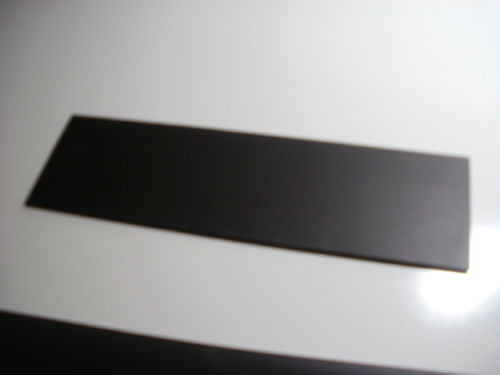 Good quality EPDM, small, flat rubber sheet. 600mm X 105mm X 2.70-3.00mm thick.