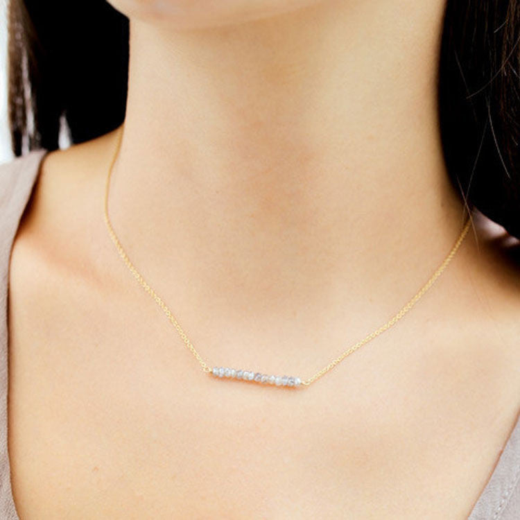 Labradorite Bar Necklace Leah Alexandra