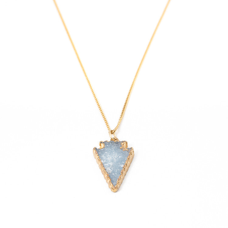 Gold Druzy Necklace av max
