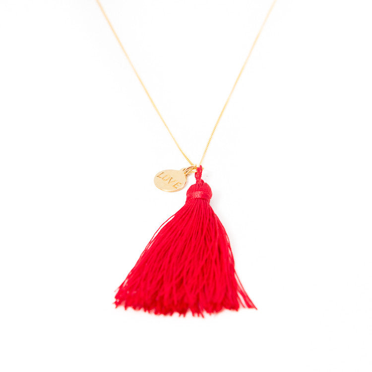 Red Love Charm Necklace Jiya Jewellery