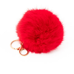 Red Fur Bag Charm