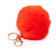 Orange Fur Bag Charm