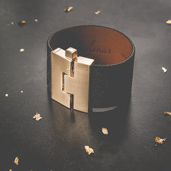 Black Stingray Jigsaw Cuff Leighelena