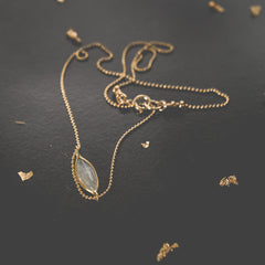 Moonstone Cleo Necklace Leah Alexandra
