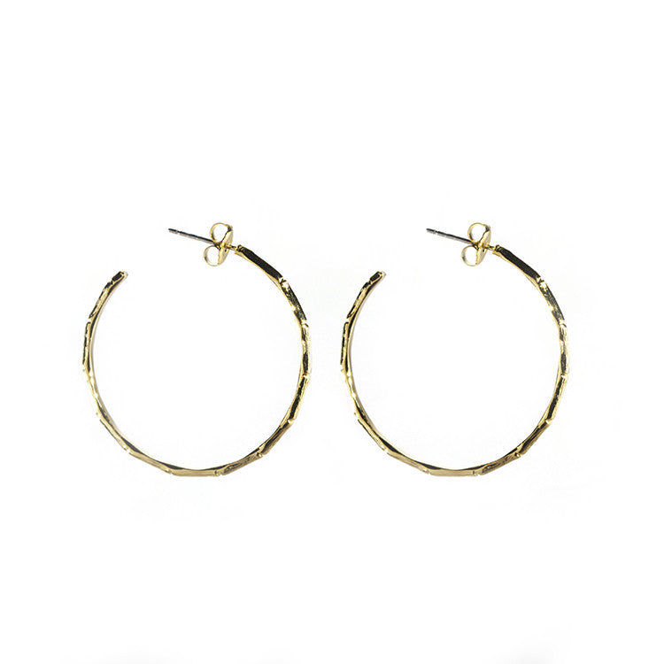 Bamboo hoop earrings a.v. max